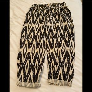 J Crew Patterned Cropped Pants